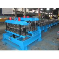 China Color Steel Roofing Tile Forming Machine ,  Sheet Metal Forming Machines Double Press Mould on sale