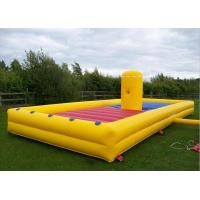Wholesale Yellow 35x12ft Inflatable Interactive Games Customized Eliminator Run Bungee Run from china suppliers