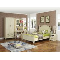Wholesale Rubber Wood made Kids/Children/Single white bedroom 1.2/1.4M small bed Space saving furniture with Study table/bookcase from china suppliers