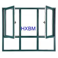 China Thermal Break Aluminum Casement Windows EPDM Gasket With Low - E Glass Heatproof on sale