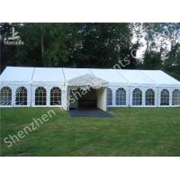 Wholesale White Fabric Cover Hard Aluminum Garden Party Marquees with Enterance Walkway from china suppliers