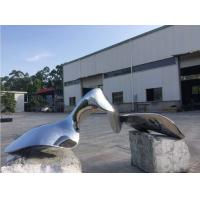 China Surface Polished Garden Ornaments , Metal Outdoor Abstract Sculpture for sale