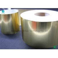 China Glossy Eco Friendly Silver / Gold Aluminum Foil Coated Paper For Tobacco Packaging In Plain Mass Production for sale