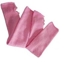 China Custom comfortable Pure Pink Knitted Arm Warmer Fingerless Sleeves For Women on sale