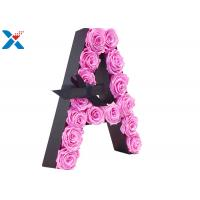 China Luxury Rose Gift Acrylic Flower Box A Letter Flower Box With Lid Non - Toxic for sale