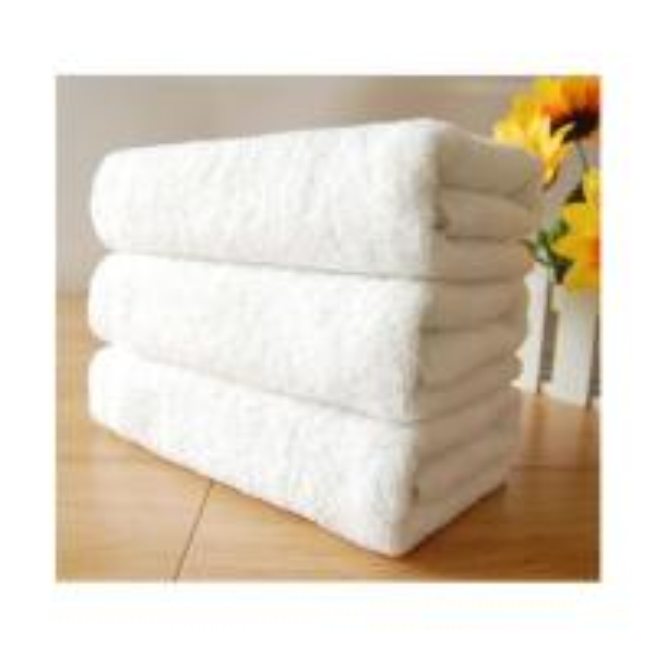 100% Cotton 70x140cm Super Soft Plain White Hotel Bath