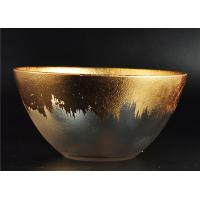 Wholesale Clear Bowl Shape Glass Candle Holder with Golden Coating for Wedding Decor from china suppliers