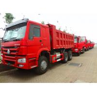 Quality 6 x 4 336hp / 371hp Sinotruk Howo Tipper  Dump Truck Hyva Lifting Iso Ccc  thickness of bottom and side for sale