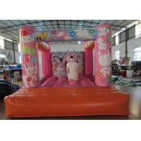Wholesale Custom Made Inflatable Small bouncer Pink inflatable rabbit Jump house on sale from china suppliers