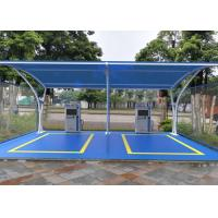 Buy cheap Lightweight Tensile Membrane Structures Metal Frame Car Park Canopy For Wash from wholesalers