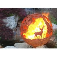 Wholesale Corrosion Stability Corten Steel Sphere Fire Pit Deer For Garden Decoration from china suppliers