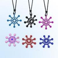 Buy cheap Cut Ship Shape Negative ion Silicone Pendant Necklace for expedite blood from wholesalers