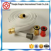 Wholesale 3 inch fire fighter white hose with coupling fire resistant pvc hose manufacturers made in China with cheap price from china suppliers