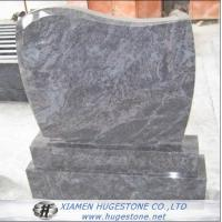 New Imperial Grey Granite Tombstone with White Lines, Monuments for sale