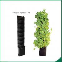 Wholesale Eco Friendly 8 Pocket Vertical Garden Kit Wall Garden Growing Bags 25x13cm Felt material Black or as request from china suppliers