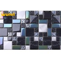Wholesale Washable Glass And Stainless Steel Black Kitchen Tiles With 100×100mm Chip from china suppliers