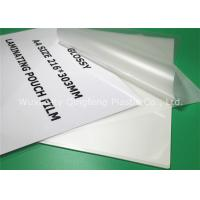 Wholesale Clear A4 Size Laminating Pouch Film Lamination Pouches For Document from china suppliers