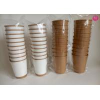 Wholesale Kraft Hot Double Wall Paper Cups , insulated disposable coffee cup printing from china suppliers