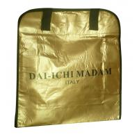 Quality DAI - ICHI MADAM 90g brozen lamination black webbing handy non woven carry bag for sale