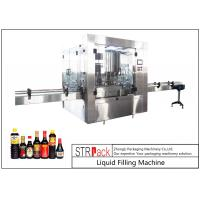 Wholesale 24 Head Nozzle Automatic Liquid Filling Machine For 0.5 - 2L Wine / Soy Sauce from china suppliers