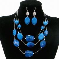 Wholesale Fashion Beaded Necklace Set, Made of Acrylic from china suppliers