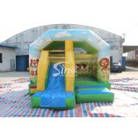Inflatable Cartoon Bounce House Jumping Castle With Slide For Inflatable Games for sale