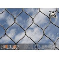 Wholesale SS316 / SS304 2.0mm  Stainless Steel Knotted Cable Mesh with 80X139mm Mesh Opening from china suppliers