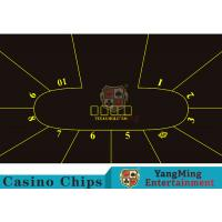 Wholesale Good Resilience Casino Table Layout High Density Black Color With Crown Logo from china suppliers