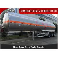 China 3 Axles 45000-50000 Litres 4 Compartment Fuel Tank Semi Trailer  For  Sale on sale