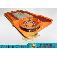 Wholesale Casino Dedicated Luxury Roulette Poker Table Solid wood + High-Grade Soft Bag Armrest from china suppliers