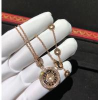 Wholesale Charming Bvlgari Cerchi Astrale 18K Rose Gold Diamond Necklace Customization Available from china suppliers