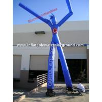 Wholesale 2 Legs Blue Advertising Inflatable Arm Waving Tube Man / Dancing Balloon Man from china suppliers