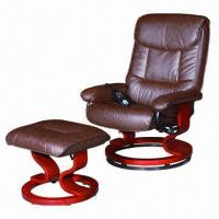 Wholesale Massage chair with real leather cover, painted wood steel frame, electric function, 5 years warranty from china suppliers
