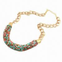 Wholesale Fashionable Necklace, Made of Small Beads, Various Colors are Available from china suppliers