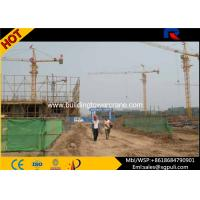 25 Tons Erecting Tower Crane , Electric Tower Crane Boom Length 70m For Heavy Duty Lifting