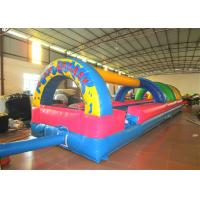 Inflatable the commercial rainbow water slide inflatable horizontal direction interesting wild splash on sale for sale
