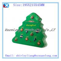 Wholesale Tree Shape Metal tin chocolate box from china suppliers