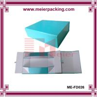 Quality Shoe box, Paper shoe boxes, Blue foldable paper packaging box ME-FD026 for sale