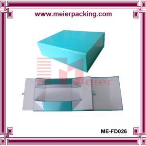 Quality Shoe box, Paper shoe boxes, Blue foldable paper packaging box ME-FD026 for sale