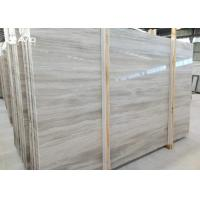 White Wood Vein Marble Natural Stone Slabs For Wall Cover / Flooring Decor for sale