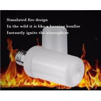 Wholesale LED Flame Bulb Flash Lighting Mode E27 B22 4.5W CE ROHS dimmable 1400K yellow color PC SMD2835 chip from china suppliers