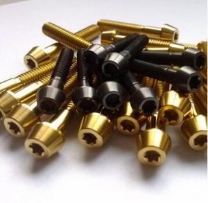 Wholesale Ti6Al4V Gr5 DIN912 M10 titanium alloy allen TAP head bolt Ti6Al4V TC4 BT6 from china suppliers