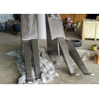 Quality Contemporary Metal Garden Sculptures Couple Figures Matt / Sandblasting Finishing for sale