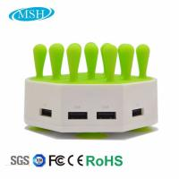 Wholesale Phone Tablet Multiple USB Charger Station , 4 Ports USB Desktop Charger Station from china suppliers