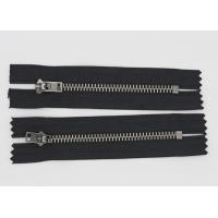 Wholesale Black Nickel Teeth Oxidized Fire Retardant Zippers For Clothing / Luggage from china suppliers