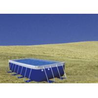 Quality Blue PVC Steel Frame Metal Frame Pool , Easy Set Up Swimming Pool With for sale