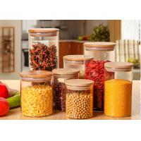 Wholesale Large Glass Storage Jars With Wood Lid / High Borosilicate Glass Jars from china suppliers