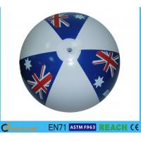 Quality Eco Friendly Globe Beach Ball 12 Inch Diameter Classic Colorful Design for sale