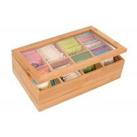 Wholesale High quality Bamboo Storage Box for coffee or Tea Box with Lid from china suppliers