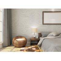 Quality Embossed Leaf Pattern Modern Removable Wallpaper for Bedroom With Vinyl Material for sale